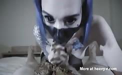 Scat blowjob video