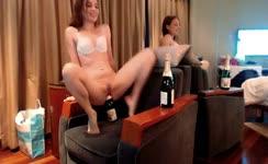 Using a bottle to masturbate