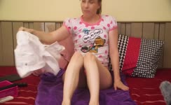 Big turd in pink panties