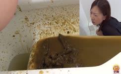 Diarrhea from japanese girl